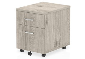 Gladstone Grey Oak 2 Drawer Mobile Pedestal