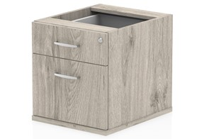 Gladstone Grey Oak Fixed Pedestal - 2 Drawer