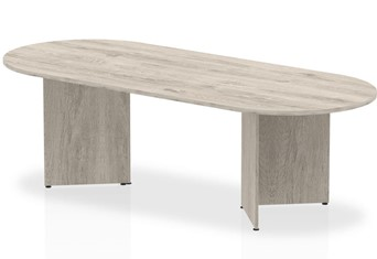 Gladstone Grey Oak 2400 Boardroom Table Panel Leg