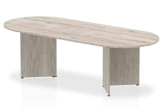 Gladstone Grey Oak 2400 Boardroom Table Panel Leg
