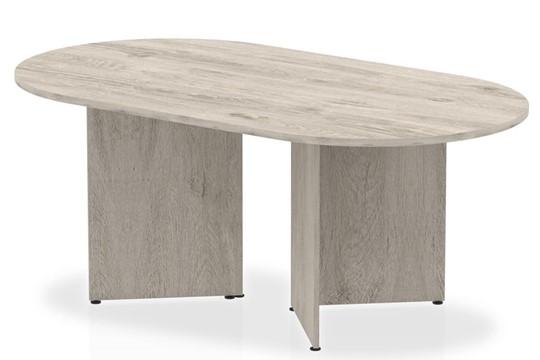 Gladstone Grey Oak 1800 Boardroom Table Panel Leg