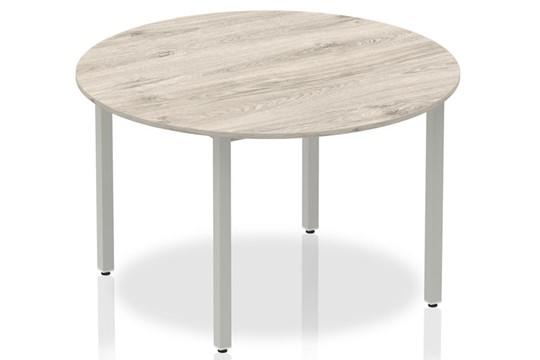 Gladstone Grey Oak 1200 Circle Table Box Frame Leg