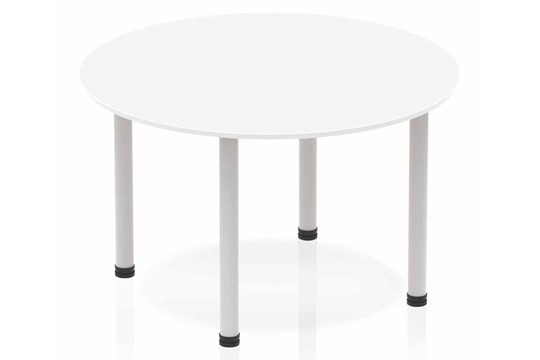 Polar White Circle Table 1200 Post Leg