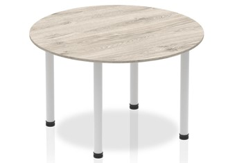Gladstone Grey Oak 1200 Circle Table Post Leg