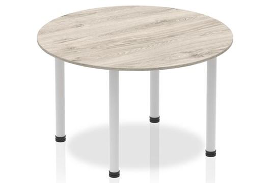 Gladstone Grey Oak 1200 Circle Table Post Leg