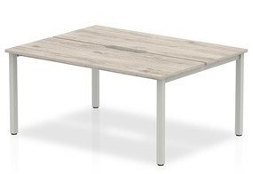 Gladstone Grey Oak 2 Person Double Bench Desk - 2 x 1200mm
