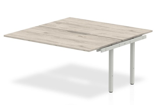 Gladstone Grey Oak Double Extension Desk