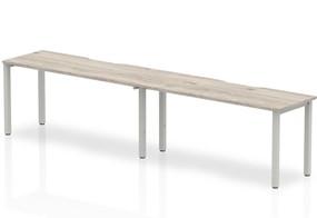 Gladstone Grey Oak 2 Person Single Bench Desk