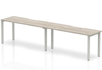 Gladstone Grey Oak 2 Person Single Bench Desk - 2 x 1200mm