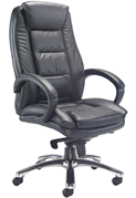 Brompton Leather Office Chair - Black