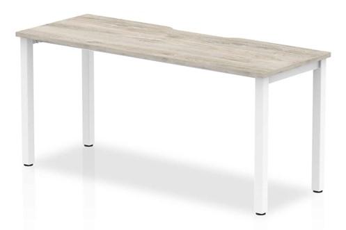 Gladstone Grey Oak 1 Person Single Bench Desk