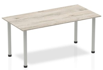 Gladstone Grey Oak Straight Table Post Leg - 1200mm