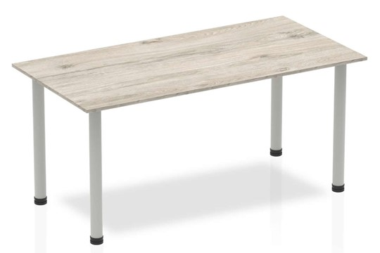 Gladstone Grey Oak Straight Table Post Leg