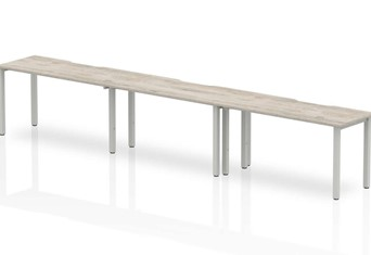 Gladstone Grey Oak 3 Person Single Bench Desk - 3 x 1200mm