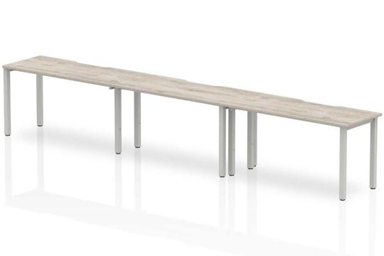 Gladstone Grey Oak 3 Person Single Bench Desk