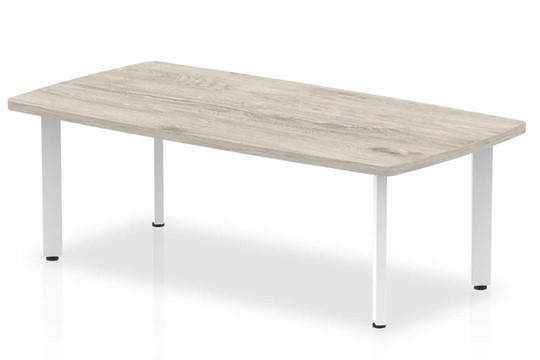 Gladstone Grey Oak 1200 Round Meeting Table