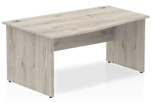 Gladstone Grey Oak Panel Wave Desk