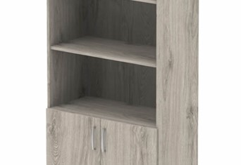 Gladstone Grey Oak Open Shelf Cupboard