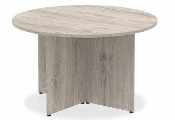 Gladstone Grey Oak Round Meeting Table