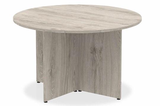 Gladstone Grey Oak Round Meeting Table