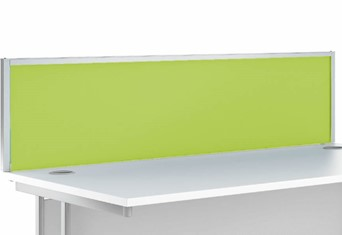 Aluminium Desk Screen - 1200 mm Wide Green White