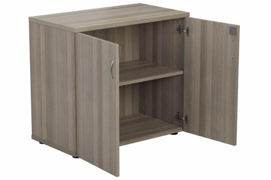 Kestral Grey Oak  Desk High Cupboard