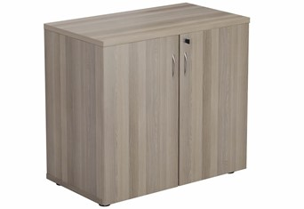 Kestral Grey Oak  Desk High Cupboard