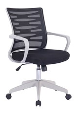 Black Mesh Back - White Frame Office Chair - Spyro
