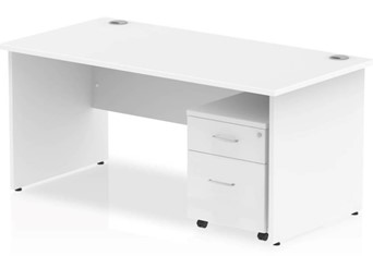 Polar Straight Panel Desk And Pedestal - 1200mm 2 Drawer