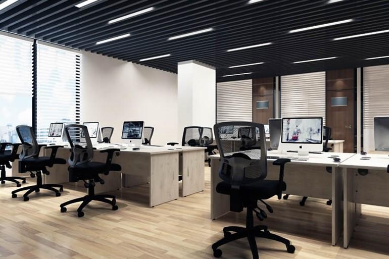 Gladstone Grey Oak Rectangular Panel End Desk