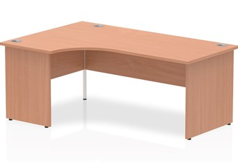 Price Point Beech Corner Desk - Left Handed 1600mm x 1200mm