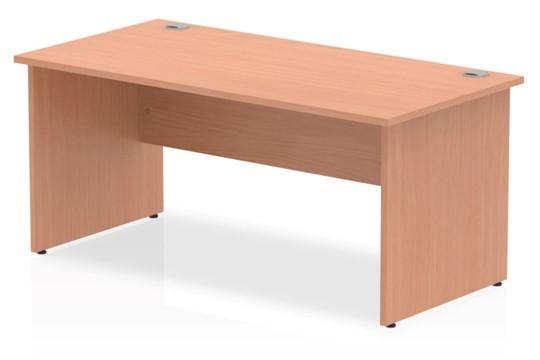 Price Point Rectangular Beech Panel End Desk