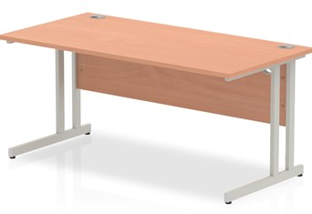Price Point Beech Rectangular Cantilever Desk - 1200mm x 600mm