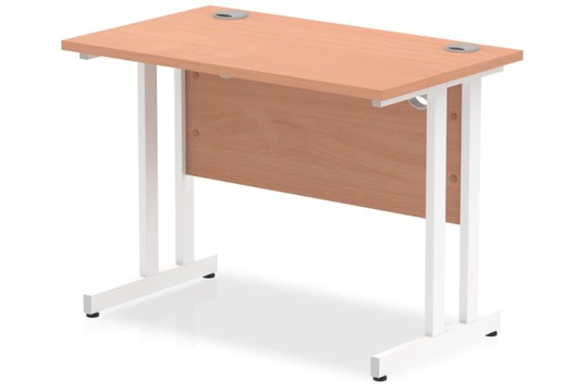Price Point Small Cantilever Beech Desk