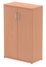 Price Point Beech Tall Office Cupboard - 1200mm High