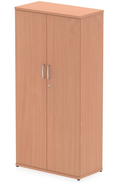 Price Point Beech Tall Office Cupboard