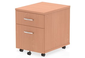 Price Point 2 Drawer Mobile Beech Pedestal