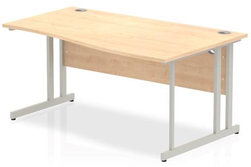 Solar Maple Cantilever Wave Desk