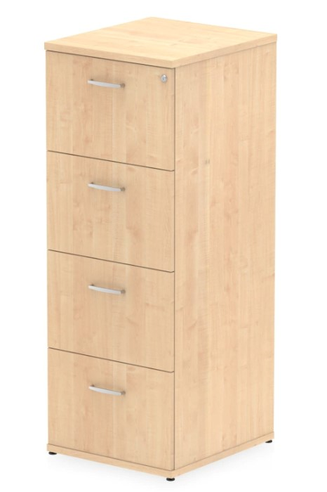 Maple 4 Drawer Filing Cabinet Lockable