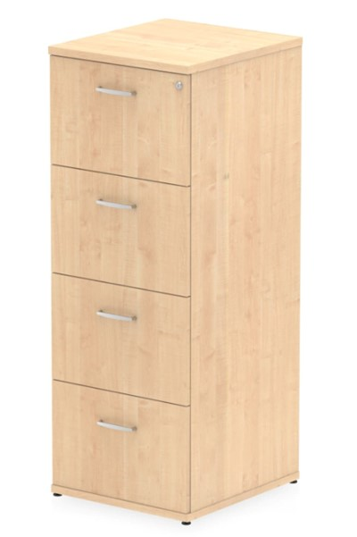Solar Maple 4 Drawer Filing Cabinet