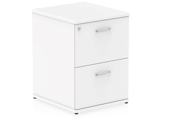 Polar White 2 Drawer Filing Cabinet