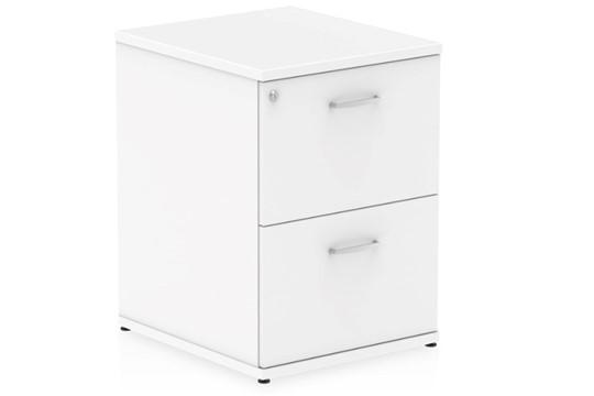 Polar White 2 Drawer Filing Cabinet