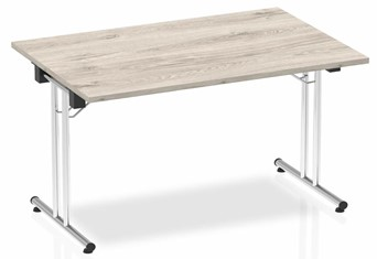 Gladstone Grey Oak Rectangular Folding Table - 1200mm Wide