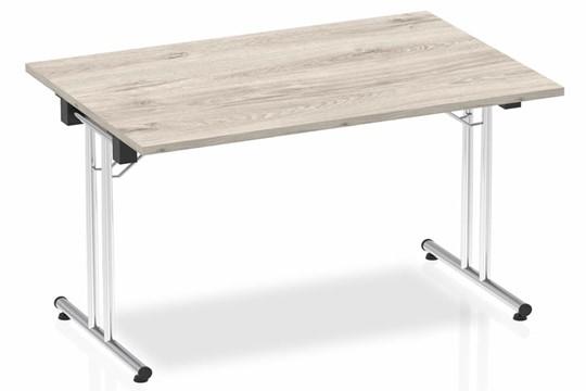 Gladstone Grey Oak Rectangular Folding Table