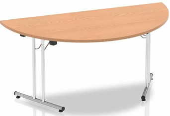 Norton Oak Semi Circular Folding Table