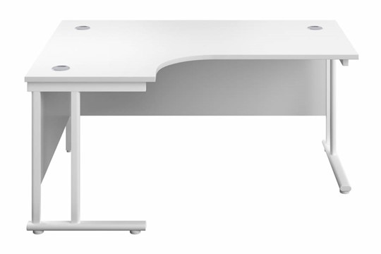 Kestral White Cantilever Corner Workstation