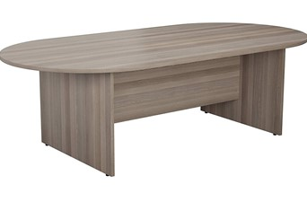 Kestral Grey Oak D End Boardroom Table - 2400mm