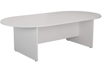 Hawk White D End Boardroom Table - 1800mm