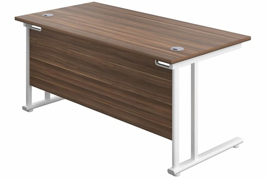 Kestral Dark Walnut Rectangular Cantilever Desk