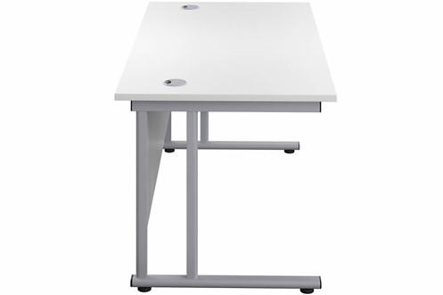 Kestral White Rectangular Cantilever Desk